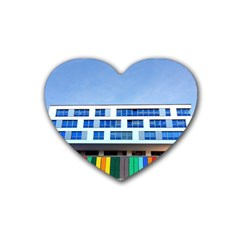 Office Building Rubber Coaster (heart)