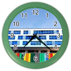 Office Building Color Wall Clocks