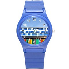 Office Building Round Plastic Sport Watch (s)