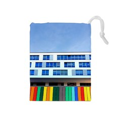 Office Building Drawstring Pouches (medium)