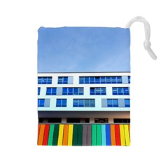 Office Building Drawstring Pouches (large)