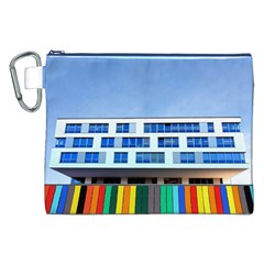 Office Building Canvas Cosmetic Bag (xxl)