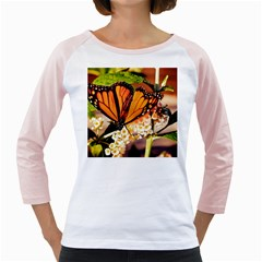Monarch Butterfly Nature Orange Girly Raglans