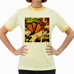 Monarch Butterfly Nature Orange Women s Fitted Ringer T Shirts