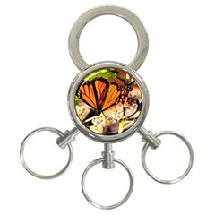 Monarch Butterfly Nature Orange 3-Ring Key Chains