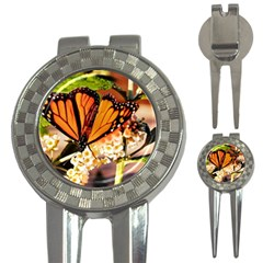 Monarch Butterfly Nature Orange 3 In 1 Golf Divots