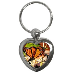 Monarch Butterfly Nature Orange Key Chains (heart)