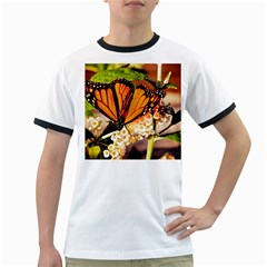 Monarch Butterfly Nature Orange Ringer T Shirts