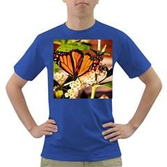 Monarch Butterfly Nature Orange Dark T-Shirt