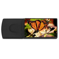 Monarch Butterfly Nature Orange Usb Flash Drive Rectangular (4 Gb)