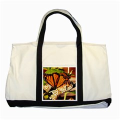Monarch Butterfly Nature Orange Two Tone Tote Bag