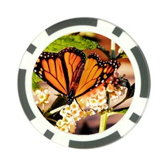 Monarch Butterfly Nature Orange Poker Chip Card Guard