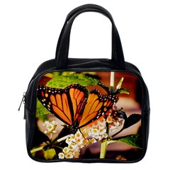 Monarch Butterfly Nature Orange Classic Handbags (one Side)