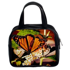 Monarch Butterfly Nature Orange Classic Handbags (2 Sides)