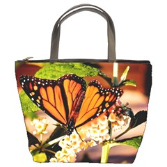 Monarch Butterfly Nature Orange Bucket Bags