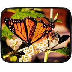 Monarch Butterfly Nature Orange Fleece Blanket (mini)