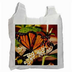 Monarch Butterfly Nature Orange Recycle Bag (one Side)