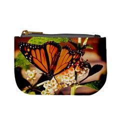 Monarch Butterfly Nature Orange Mini Coin Purses