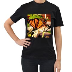 Monarch Butterfly Nature Orange Women s T Shirt (black)