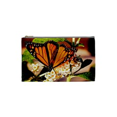 Monarch Butterfly Nature Orange Cosmetic Bag (small)