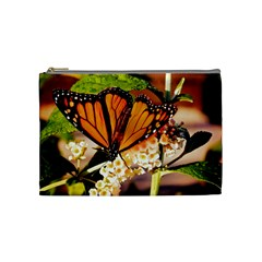 Monarch Butterfly Nature Orange Cosmetic Bag (medium)