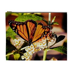 Monarch Butterfly Nature Orange Cosmetic Bag (xl)