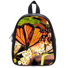 Monarch Butterfly Nature Orange School Bags (small)