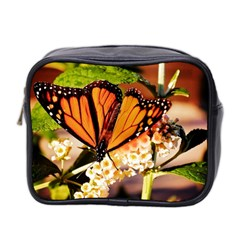 Monarch Butterfly Nature Orange Mini Toiletries Bag 2 Side