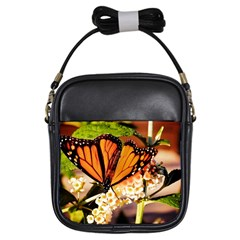 Monarch Butterfly Nature Orange Girls Sling Bags