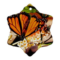 Monarch Butterfly Nature Orange Ornament (snowflake)