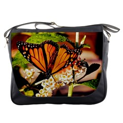 Monarch Butterfly Nature Orange Messenger Bags