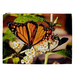 Monarch Butterfly Nature Orange Cosmetic Bag (xxl)