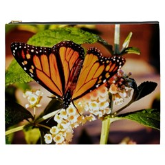 Monarch Butterfly Nature Orange Cosmetic Bag (xxxl)