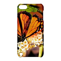Monarch Butterfly Nature Orange Apple Ipod Touch 5 Hardshell Case With Stand