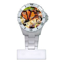 Monarch Butterfly Nature Orange Plastic Nurses Watch
