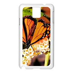 Monarch Butterfly Nature Orange Samsung Galaxy Note 3 N9005 Case (white)