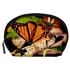 Monarch Butterfly Nature Orange Accessory Pouches (large)