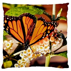 Monarch Butterfly Nature Orange Standard Flano Cushion Case (one Side)