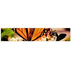Monarch Butterfly Nature Orange Flano Scarf (large)