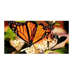 Monarch Butterfly Nature Orange Satin Wrap