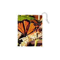 Monarch Butterfly Nature Orange Drawstring Pouches (xs)