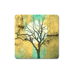 A Glowing Night Square Magnet