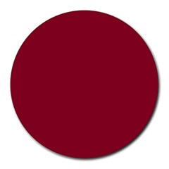 Deep red Round Mousepads