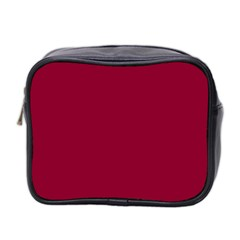 Deep red Mini Toiletries Bag 2-Side