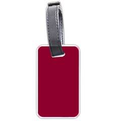 Deep red Luggage Tags (One Side)