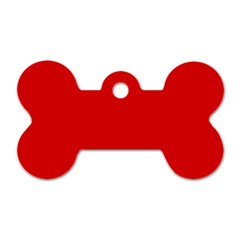 Just red Dog Tag Bone (Two Sides)