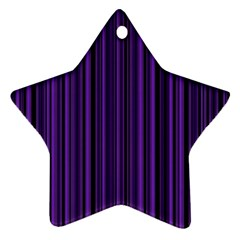 Purple Star Ornament (Two Sides)