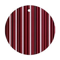 Red lines Ornament (Round)