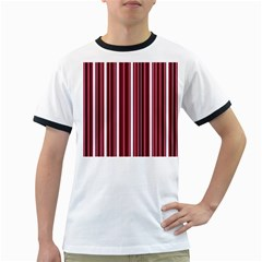 Red lines Ringer T-Shirts