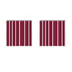 Red lines Cufflinks (Square)